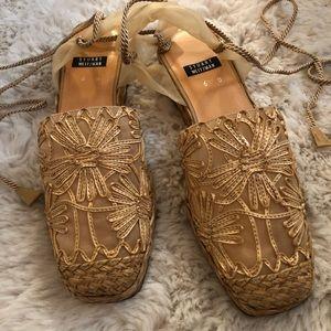 NWOT Stuart Weitzman Raffia Sandals